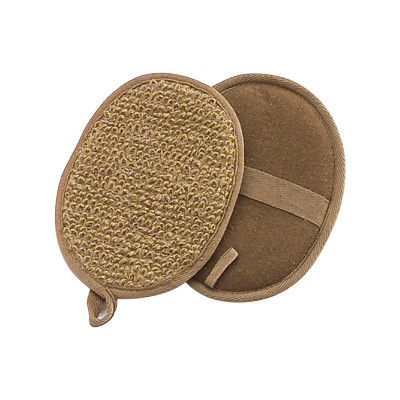 China Brown Ramie Exfoliating Scrub Pads, Natural Body Washer Scrubby Pads supplier