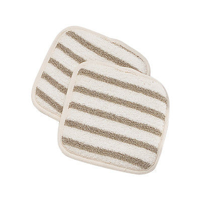 China Cotton Stripe Skin Scrubbers Quare Exfoliating Pads For Body supplier