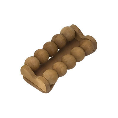 China 2 Row Hand Held Muscle Body Wooden Roller Massager 17X8X4.5 cm supplier