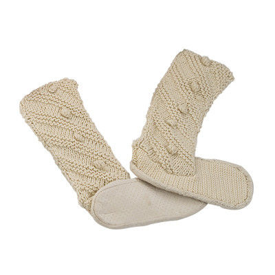 China Knitted Slipper Aloe Infused Spa Socks Long Stockings 24×32 cm supplier
