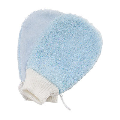 China Blue Nylon Exfoliating Bath Gloves Double Side Removing Dead Skin supplier