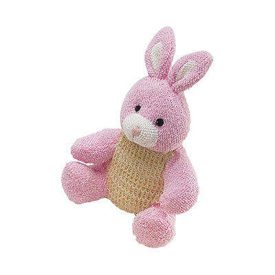 China Pink Rabbit Kids Bath Mitts Wash Cloth Household Toy Scrubber supplier