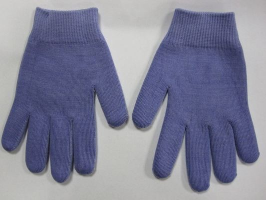 China Youth Gel Moisturizing Gloves Spa Gel Filled Blue Cotton Gloves For Moisturizing Hands supplier