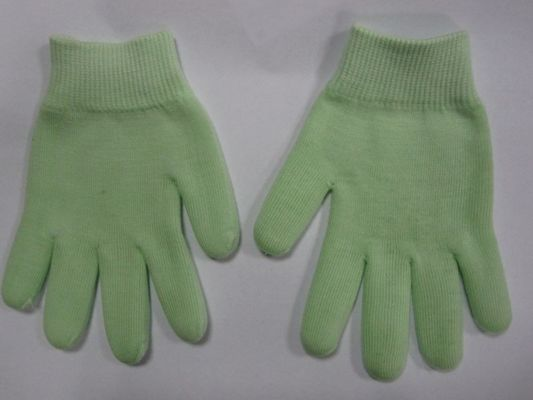 China Green Spa Gel Moisturizing Gloves Therapy Care Customized For Adult supplier