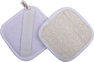 China Square Loofah Body Scrubber Exfoliating Body / Face Scrub Pad Customize Color supplier