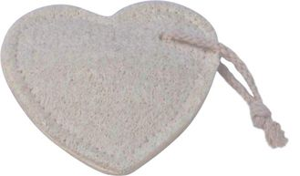 China Heart Shaped Shower Loofah Pad Loofah Body Scrubber For Facial Cleaning supplier