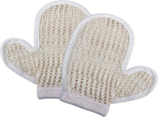 China Natural Customized Dead Skin Exfoliating Shower Mitt Sisal Body Scrubber Glove supplier