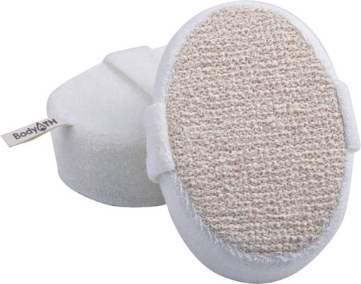 China Dot Hemp Polyester Terry body scrubber for shower , Natural Pad For Skin Cleaning supplier
