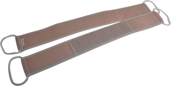 China Exfoliating Natural Brown Hemp Back Strap ,  Reach Area Back Cleaning supplier