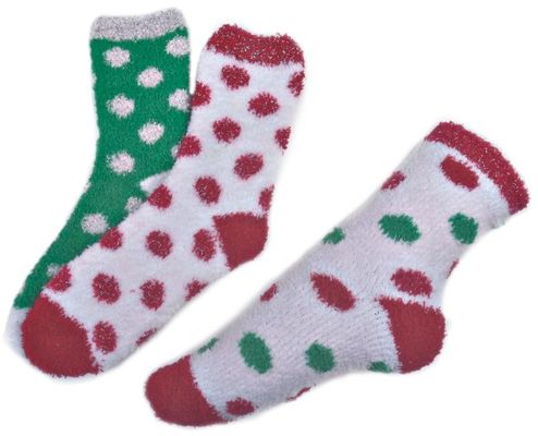 China Polka dot pattern ,Aloe Infused SPA Socks polyester plush therapy spa sock supplier