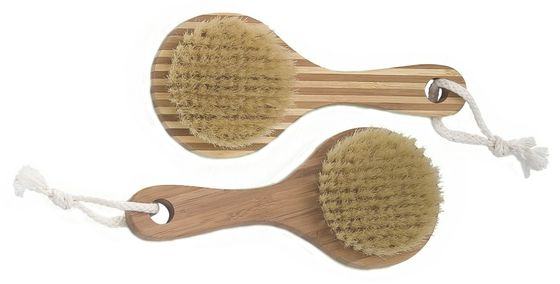 China Home Bath Exfoliation Natural Bristle Body Brush with Round Head supplier