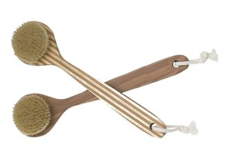 China Bamboo Bristle Wooden Body Brush , Massager Bath Shower Back Spa Scrubber supplier