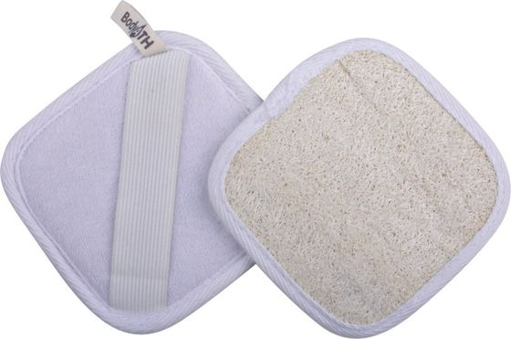 Square Loofah Body Scrubber Exfoliating Body / Face Scrub Pad Customize Color