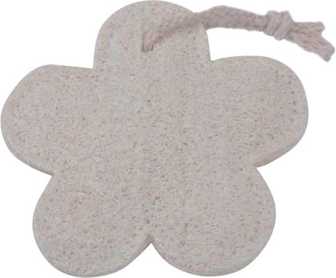 OEM / ODM Loofah Bath Pad No Stimulation Flower Shape Natural Body Scrubber