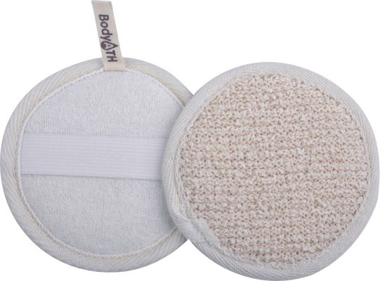 10x10 Round Hemp body scrubbers for showers , Facial Pad CRBP-9